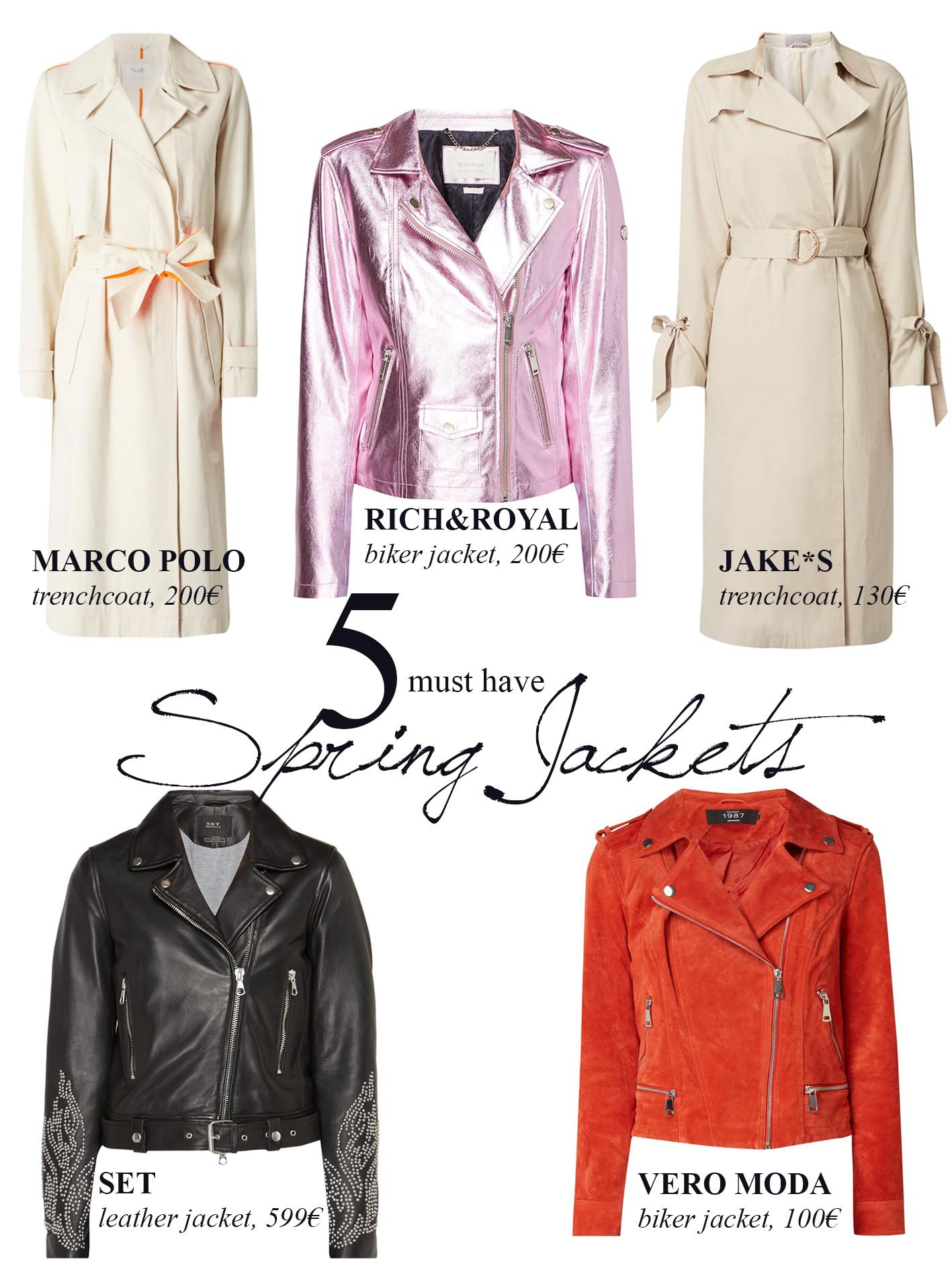 Fashion ID Frühlingsjacken in verschiedenen Farben