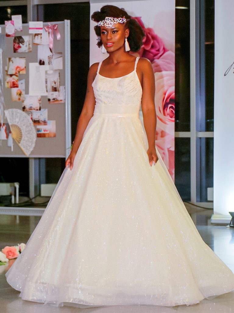 """Ama Poku from Phuck it fashion at the """"just married"""" exhibition in Nuremberg."""